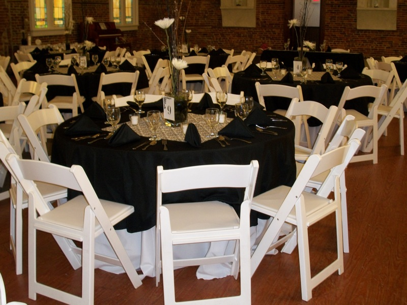 ... Table King Rental: Black And White Wedding ...