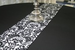 King Rental: Table with black linen