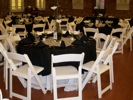King Rental: Black and white wedding
