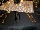 King Rental: Black and white wedding table close up