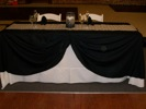 King Rental: Black and white wedding head table