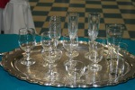 King Rental: Platter with glasses