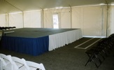 King Rental: Tent with chairs and stage