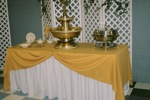 King Rental: Yellow table with fountain